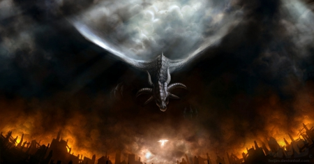 A great visualization of the Curse in dragon form - he sort of made it through all three books...