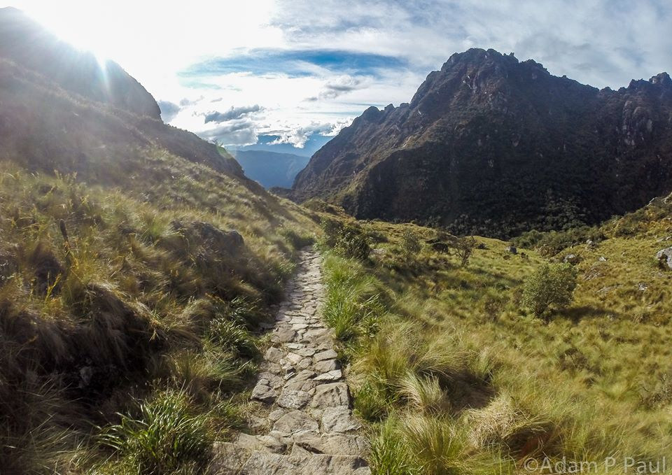 Inca Trail stretching ahead to new thoughts and challenges (photo by Adam P. Paul)