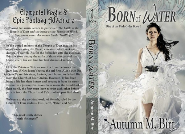 The paperback cover to Born of Water! I'm proud of this one. :)