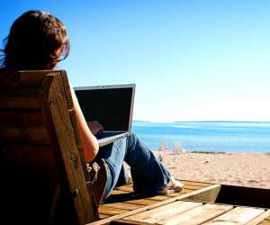 Summer writing only LOOKS easy because you can write at the beach...
